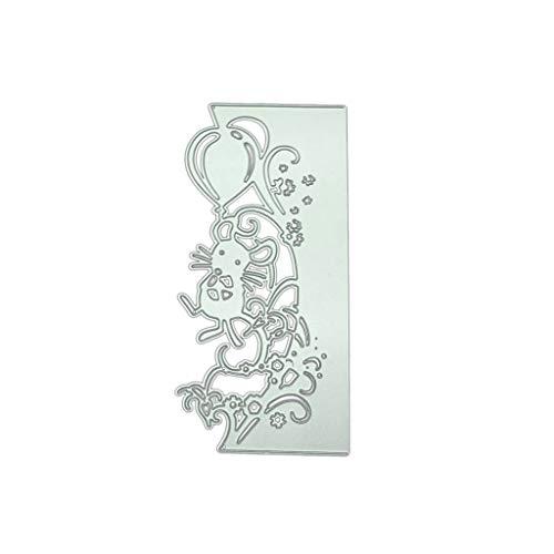 Koobysix Mäuse Spitze Metallschneiden Stirbt Scrapbooking Schablonen DIY Papierkarte Craft Decor