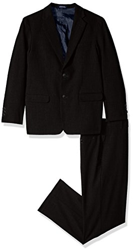 Nautica Boys' Toddler Two Piece Suit Set with Hemmed Pants, Black, 3T
