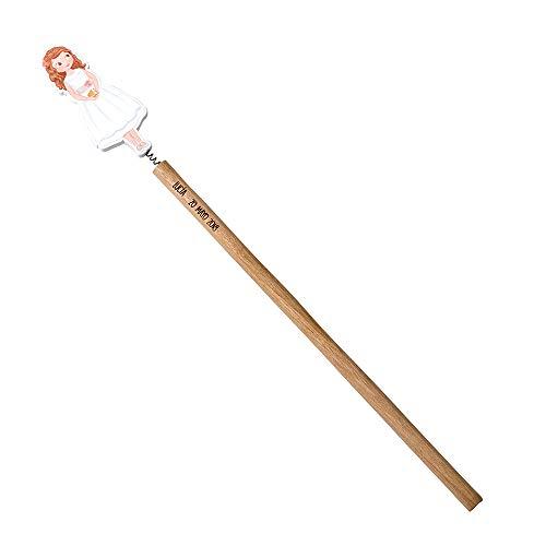 Mopec W917 potloden voor meisjes, communie, korte jurk, 24 cm, 6 stuks
