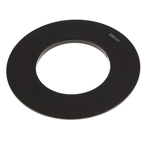perfk Anillos Adaptadores para Filtros Fotográficos de Objetivo: 49mm 52mm 55mm 58mm 62mm 67mm 72mm 77mm 82mm - Negro 49mm