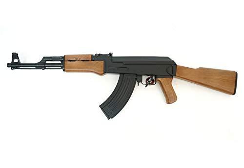 Pack Cyma-CM022 Rifle Airsoft/Plástico de Alta Resistencia/Color Negro y marrón/Eléctrico (0,3 Julios) / Semi-Automático