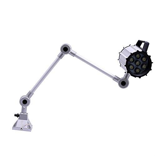 Noilyn- 7W 110V / 220V Faretti a LED Lampada da tavolo pieghevole a braccio lungo Lampada da lavoro Impermeabile IP65 Fresatrice CNC Utensili Lanterne Alta qualità Anti-burst Illuminazione meccanica regolabile