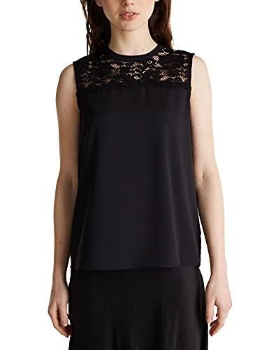 ESPRIT Collection Damen 129EO1F010 Bluse, 001/BLACK, (Herstellergröße: 38)
