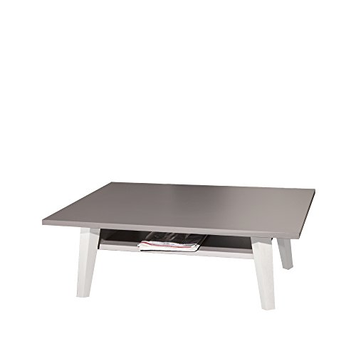 Symbiosis salontafel, met poten, wit, taupe, 89 x 67 x 28,2 cm