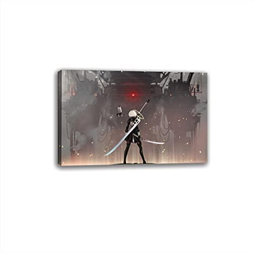 nier autómata espada en el juego Póster decorativo de la pintura de la pared del arte de la sala de estar carteles dormitorio pintura