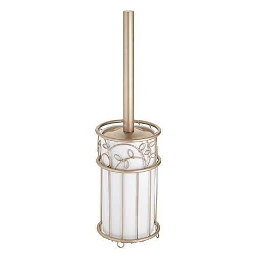 Price comparison product image iDesign Twigz Toilet Brush Holder Set,  Plastic Toilet Brush and Holder,  Champagne