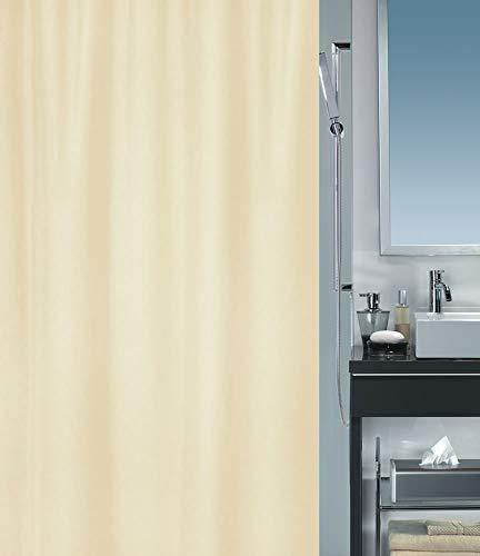 """Spirella Anti-Schimmel Duschvorhang - Anti-Bakteriell, waschbar, wasserdicht - Polyester, """"Primo """" 240x200cm Beige"""