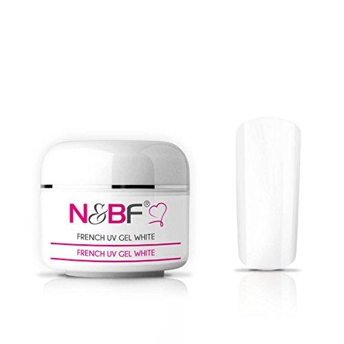 N&BF French UV Gel Classic White/Weiß | 5ml hochwertiges Profi Frenchgel Weiß mittelviskos für French Spitzen | Professionelles Nagelgel für French Manicure | Made in EU