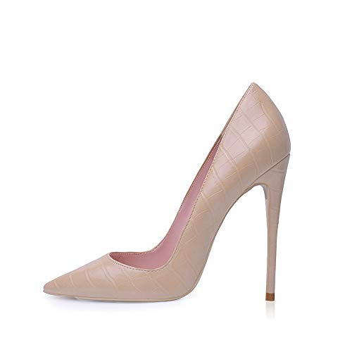 High Heel, 12cm / 4.72 Zoll Stiletto High Heel Schuhe für Frauen Spitz Party Abendkleid Pumps Prom AP 42