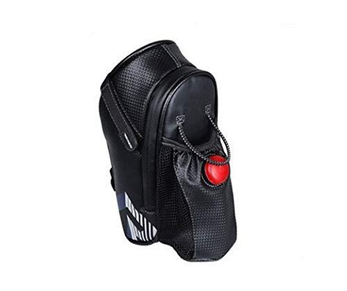 Bolsa Impermeable para Bicicleta con Luz Trasera, Bolsa para Botella de Agua para Bicicleta de Montaña, Bolsa para Herramientas para Bicicleta