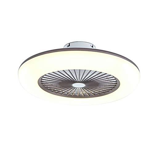 Aohuada - Luz LED para ventilador de techo o dormitorio con mando a distancia de 36 W, 58 cm, ventilador silencioso + 2880 lúmenes, moderna con Smart Invisible
