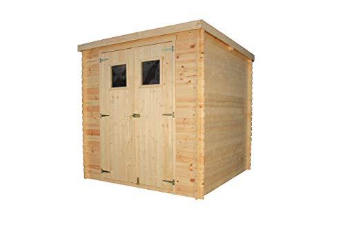 TIMBELA Holzhaus Gartenhaus M309 - Gartenschuppen Holz B204xL204xH202 cm/ 3.53 m2 Lagerschuppen für Garten - Fahrrad Schuppen - Wasserfestes Dach