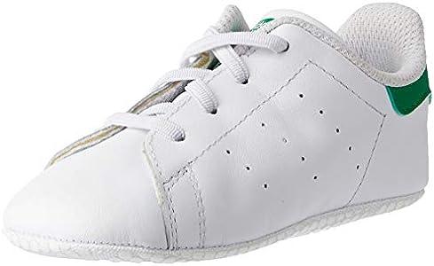 adidas Originals Stan Smith Crib, Zapatillas Unisex niños, Blanco (Footwear White/Footwear White/Green 0), 17 EU