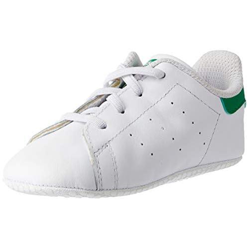 adidas Stan Smith Crib, Pantofole Unisex-Bimbi 0-24, Bianco (Ftwbla/Verde 000), 19 EU
