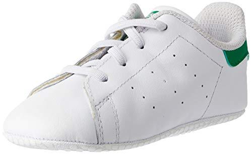 adidas Stan Smith Crib, Pantofole Unisex-Bambini, Bianco (Ftwbla/Verde 000), 17 EU