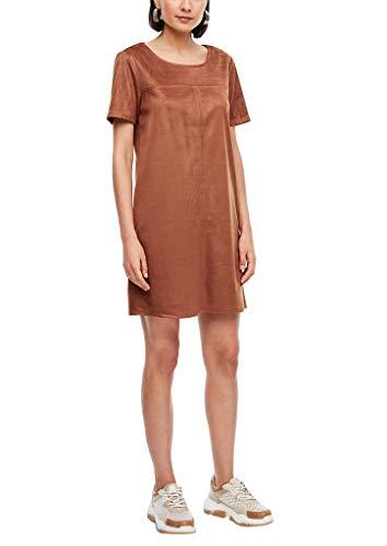 s.Oliver Damen Kurzes Kleid im Velours-Look 8757 42