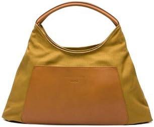 LUPO Arena Tierra Hobo Genuine Leather Trim, Mustard Yellow Women's Shoulder Bag
