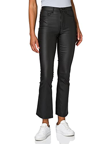 Only ONLROYAL Life HW Sweet Flared Coated JEA Pantalons, Noir, S Femme