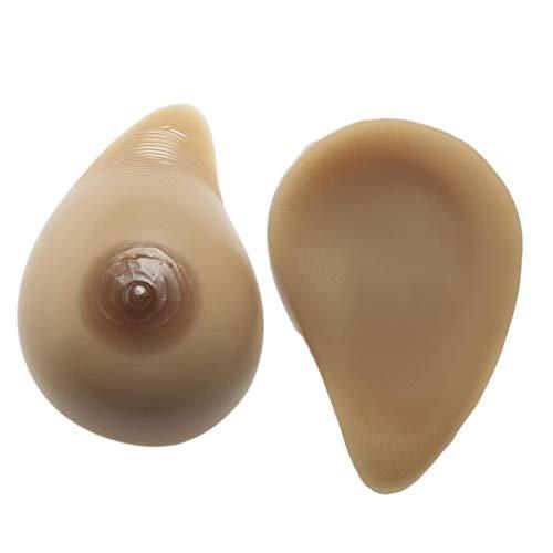 Silikonbrüste falsche Brüste, selbstklebende lebensechte Silikonbrustprothese, geeignet für Brustresektionspatientinnen, Crossdresser, Cosplay, Transsexuell (1 Paar),C