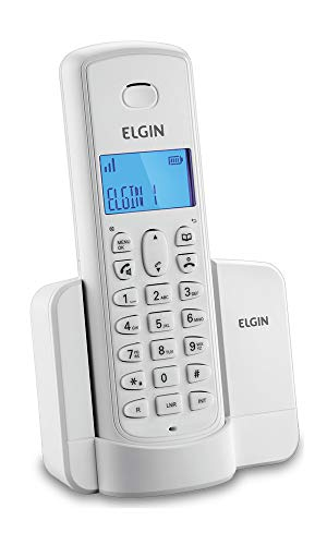 Telefone Sem Fio Elgin Com Identificador Tsf8001 Branco, Elgin, Tsf8001B, Branco