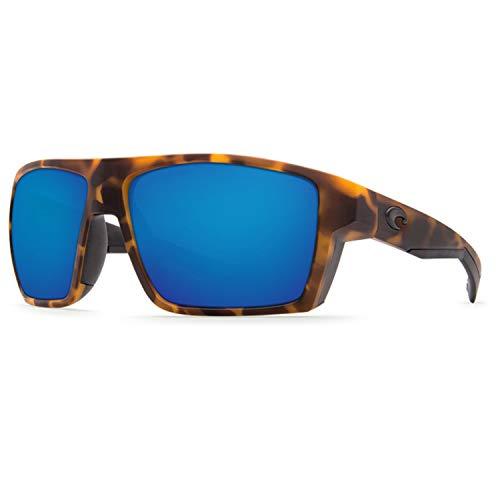 Price comparison product image Costa Del Mar Men's Bloke Polarized Rectangular Sunglasses,  Matte Retro Tort / Matte Black / Gray Blue Mirror 400G,  X-Large