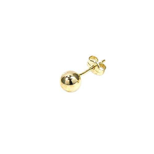 PENDIENTES DE BOLA DE 5mm DE NKLAS 585er oro de 14 quilates oro amarillo PENDIENTES PENDIENTES conector de bola 5573