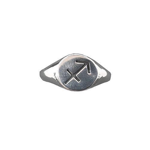 Anello da Uomo in Argento Massiccio Marchiato 925 Segno Zodiacale Sagittario R002163