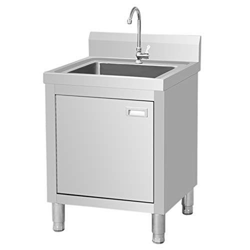 Waschbecken Schrank Edelstahl Gewerbewaschbecken Küche Einzelwaschbecken Mit Werkbank Großraum Stauraum