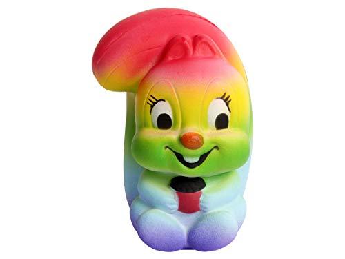 Alsino Squishies Regenboog, squishy, anti-stress, squishie regenboog, squeeze slow rising om te drukken 15 cm Sq-192-11 Regenboog eekhoorn