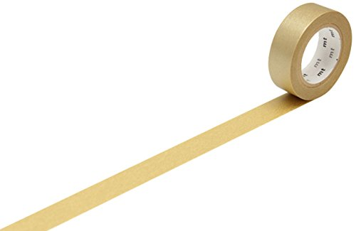 mt Washi Masking Tape Klebebandrolle gold