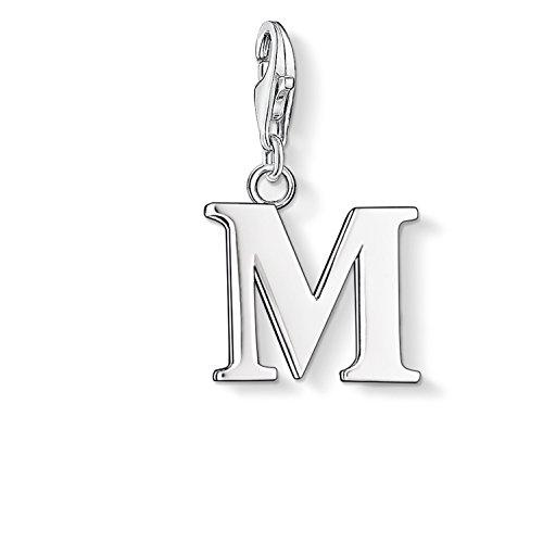 Thomas Sabo Damen Charm-Anhänger M Buchstabe Charm Club 925 Sterling Silber 0187-001-12
