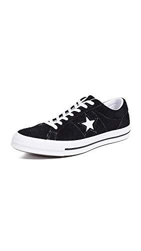 Converse Unisex-Erwachsene Lifestyle One Star Ox Suede Fitnessschuhe, Schwarz (Black/White/White 001), 40 EU