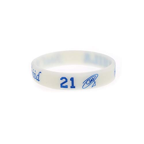 Xi-Link Basketball-Star Armband Joel Embiid Signature Edition No. 21 Basketball Silikonarmband Leucht Hand Ring Sport (Color : White, Size : 18cm)