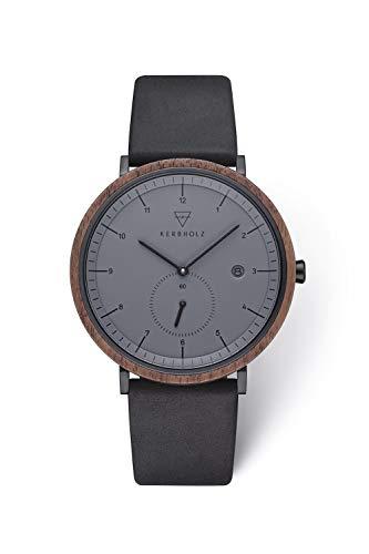 Kerbholz Armbanduhr Anton Walnut Midnight Black