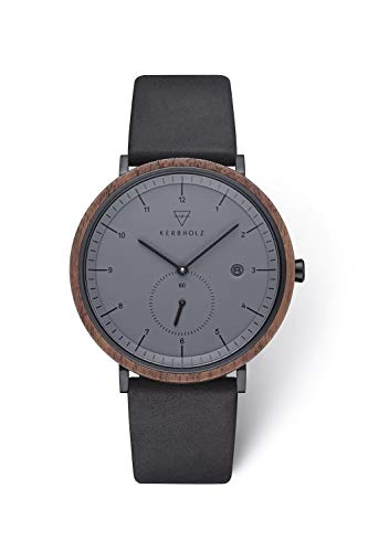 Kerbholz Armbanduhr Anton Walnut Midnight Black
