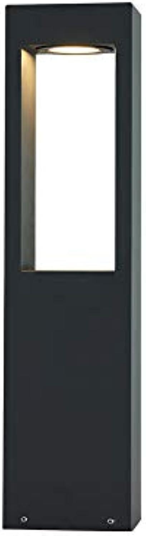 ZMH Wegeleuchte LED 7W 3000K Wegelampe LED Sockelleuchte Pollerleuchte 60cm Auenleuchte schwarz IP65 Garten Terrassen-Leuchte