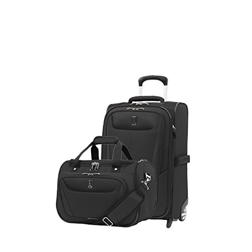 Travelpro Luggage Maxlite 5 | 2-Piece Set | Soft Tote and 22-Inch Rollaboard (Black)