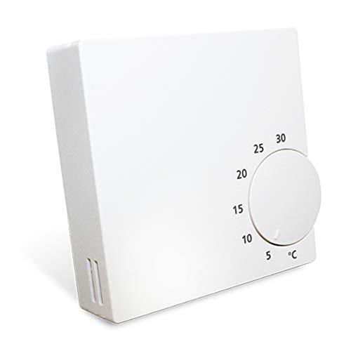 Salus RT10 Elektronischer Raumthermostat 230V 5 - 30 °C mit Drehregler, weiß