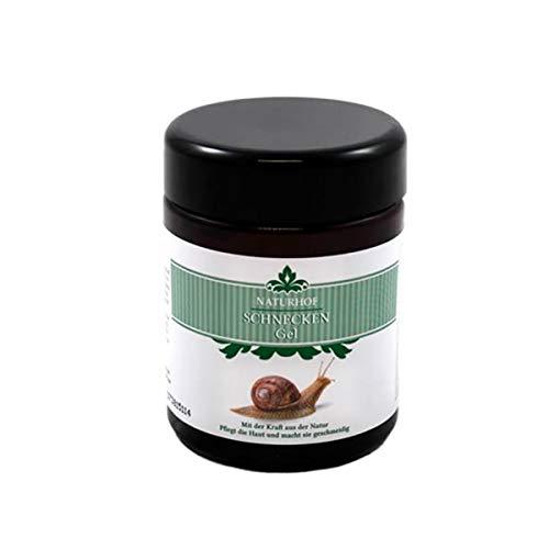 Crema viso in gel alla bava di lumaca Helix Aspersa Muller pura al 100% con vitamina B6, collagene e allantoina - Antirughe rigenerante ed idratante - 100% Made in Germany Flacone da 100ml - 5490