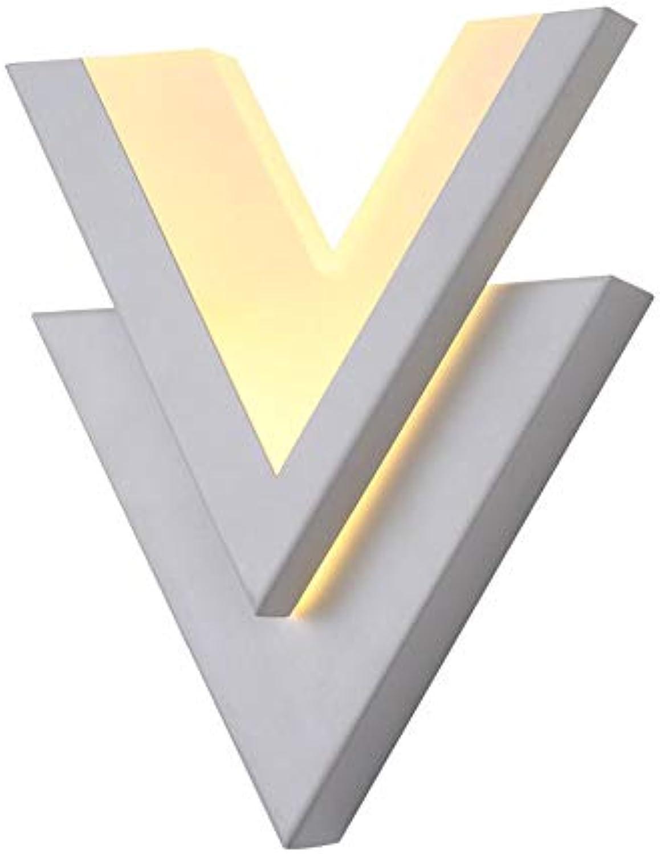 Candtong LED-Wandleuchte für den Innenbereich, multifunktionale Acryl-V-frmige kreative Feste Wohnzimmerflurwandleuchte (Farbe   Warmes licht)