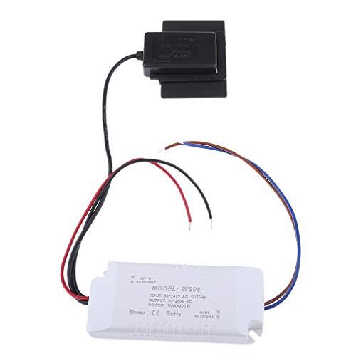IPOTCH Módulo de Interruptor Táctil de Capacitancia Luces Rojas Azules con Pegatinas para Espejo