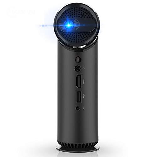 DLP HD Mini-projector, intelligente draagbare 3D-thuisbioscoop, buiten, ingebouwde stereo-subwoofer optische lens, traploze focus dual-frequentie 5 G WiFi
