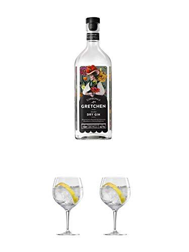 Schladerer GRETCHEN Gin 0,7 Liter + Ballon Bistro Cubata GIN Glas 1 Stück + Ballon Bistro Cubata GIN Glas 1 Stück