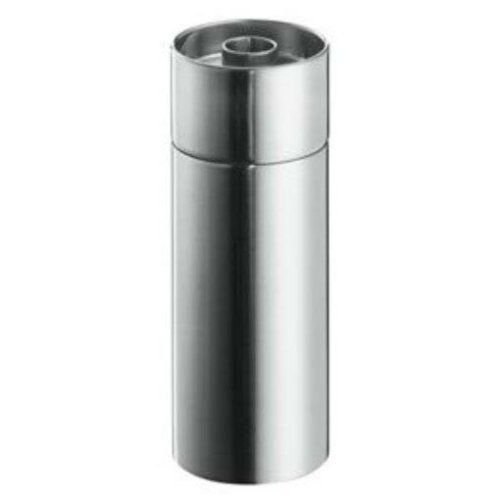 Stelton - Macina pepe in acciaio inossidabile satinato e ceramica, design di Arne Jacobsen, 5 x 12,5 cm