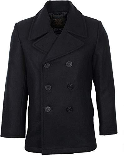 Mil-Tec Herren Us Navy PEA Coat Tuch Jacke, Schwarz, 5XL