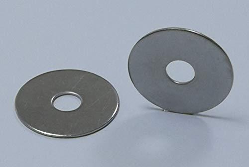 25 arandelas para carrocería/guardabarros, material de acero inoxidable V2A/Aisi 304 (M5-5,3 x 25 x 1,5 mm).