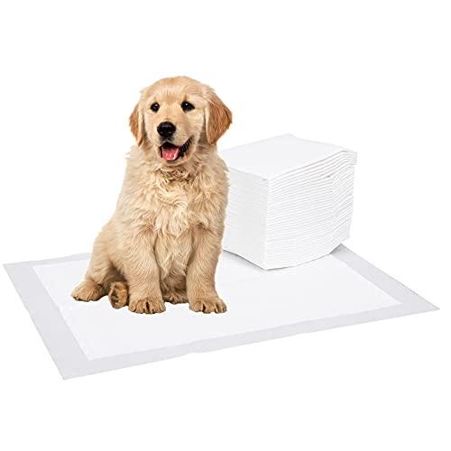 Viesap Tappetini Igienici per Cani, 100 PZ Tappetini Assorbenti per Animali Domestici, 45 * 35 CM Traversine per Cani, Tappetini Igienici Assorbenti per Cani, Cuccioli Tappetini da Addestramento.