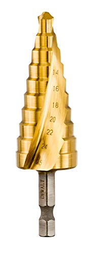 Dewalt Extreme Impact Stufenbohrer HSS-G DT5030 (14-25 mm, extrem robust, aus einem Stück gefertigt, absolut gradfreies Bohren, für den Einsatz in Bohrmaschinen (Akku und Kabel))