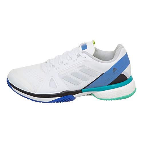 Adidas Donna Stella McCartney Barricade Boost Scarpe da Tennis Scarpa per Tutte Le Superfici Bianco - Blu 43 1/3