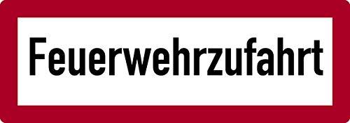 Schild Alu Feuerwehrzufahrt 210 x 594 mm (Parkverbot, Brandschutzschild, Einfahrt freihalten, Einfahrtsschild) wetterfest